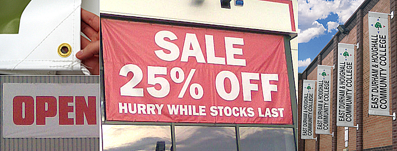 Banners - a wide range of banners designed and printed